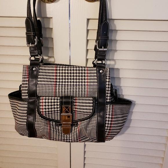b3f3edb36d Chaps by Ralph Lauren Handbags - SALE Ralph Lauren Chaps Hounds Tooth Plaid  Handbag